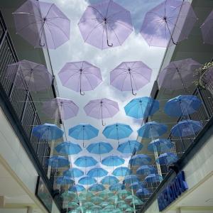 空に傘が咲くジャズドリーム長島と土用のうなぎ三昧