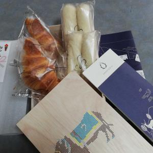 松阪牛のカレーパン&高級なクロワッサン と 白身魚の甘酢あんかけ