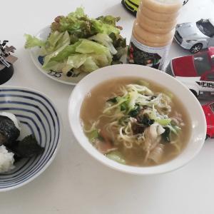 ちゃんぽん麺 と 鮎の塩焼き