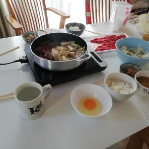 すき焼き と カキフライ そして MOWの小豆アイス
