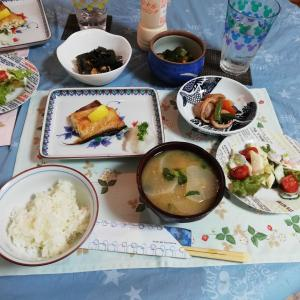 きゅうりの漬物 と プレミアム金胡麻の素麺