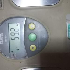 ただ、体重測定
