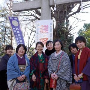 着付け教室の生徒さんと鳩森神社に初詣に行きました!
