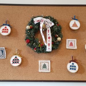 刺繍でクリスマス