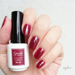 深紅のネイル(mynail)