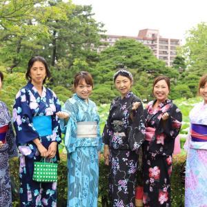 白山神社 浴衣で七夕祭り散策 お抹茶体験