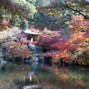 京の紅葉 醍醐寺伽藍 弁天堂
