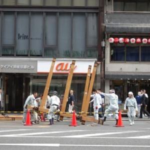 祇園祭り 鉾立がはじまりました (*^^)v