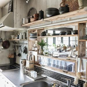 キッチンの出窓にカフェ風収納棚を作る方法(動画)