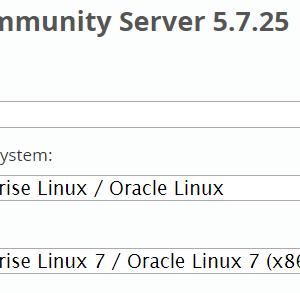 CentOS 7/ MySQL 5.7のRPMでのインストール手順