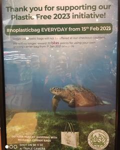 ノー・プラスチックバッグが始まった