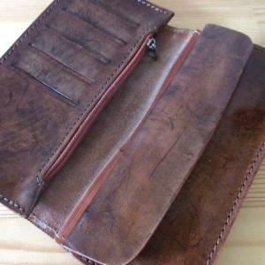 【リメイク】レザー 長財布をバラして手帳型スマホケースにしてみた