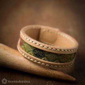 【新着商品】美しいラオス織りのレザーブレス