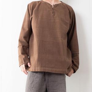 【新着商品】草木染プルオーバーシャツとだっぽりサルエル