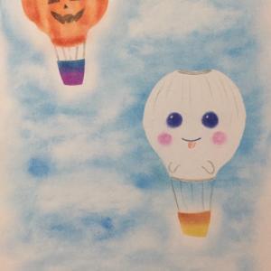 Halloweenな気球( *´艸`)