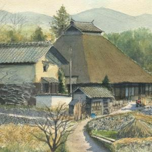 茅葺き屋根の民家