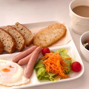 休日の朝ご飯