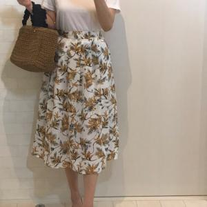 ミモザ柄スカート♡小花柄キャミワンピース