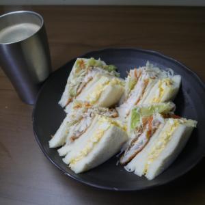魚と卵のサンドイッチ