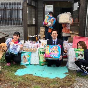 北海道新聞厚地販売所さまから支援物資とご寄付・募金を頂きました〓