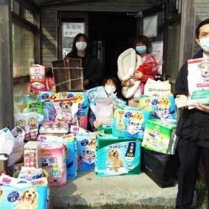 北海道新聞厚地販売所さまからご支援物資とご寄付をいただきました〓