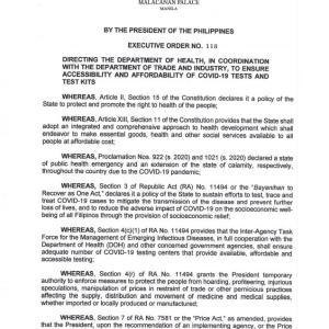フィリピン 新型コロナウィルス検査費用が安くなるかも!?