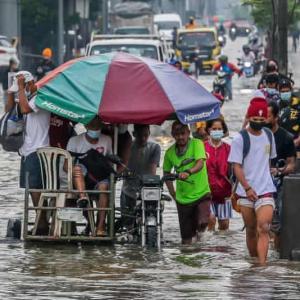 フィリピン モンスーンの影響で死者1名。。87,000名が被害に。。。