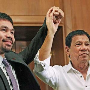 フィリピン パッキャオ議員 大統領選に向けて副大統領と会談希望!!