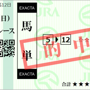 木曜門別11R 北海道スプリントC 予想 ~先週はWIN5 437,280円的中!~