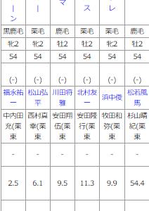 土曜阪神5R メイクデビュー阪神 予想 ~重馬場をどう見るか!?~