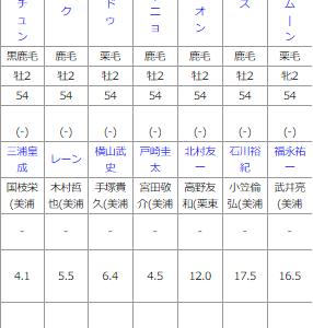 日曜福島5R メイクデビュー福島予想