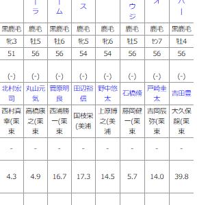 日曜福島11R 福島テレビオープン 予想