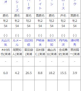 土曜中山6R メイクデビュー中山 予想