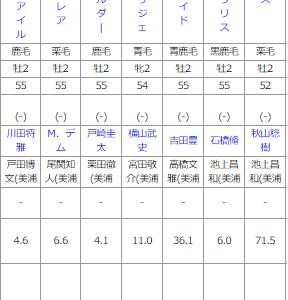 日曜中山5R メイクデビュー中京 予想