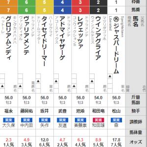 土曜中京10R 若駒ステークス 予想
