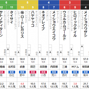 土曜東京11R スレイプニルS 予想