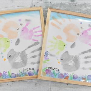 月のゆりかご初!!親子3世代の手形アート