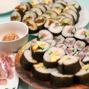 アジの巻き寿司