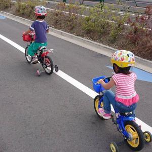 子どもの自転車練習スタート!