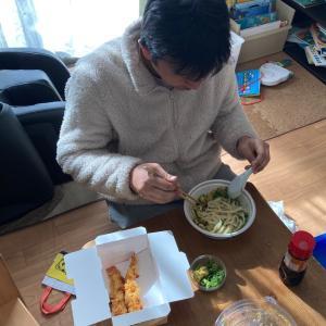 丸亀製麺の最強ランチセット(テイクアウト)