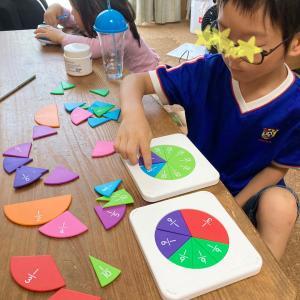 分数を感覚的に理解…するための知育玩具