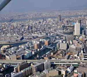 大阪市内の空中写真です