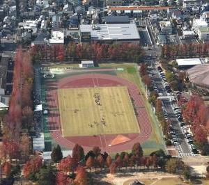 岡山市内の空中写真、300m上空から撮影しました。