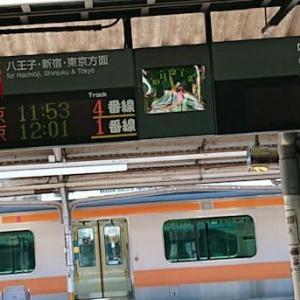 高尾駅周辺の様子と中央線