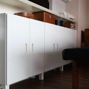 無印・IKEA・ダイソー*すっきり片付くリビングの文具収納♩