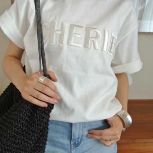 【楽天】大人気の立体ロゴ刺繍Tシャツ!40代の大人カジュアル♩