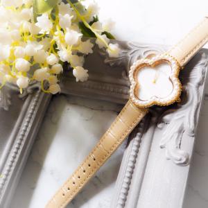 お花パールの時計♪