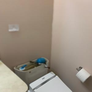 土足で工事?トイレが壊れた❶