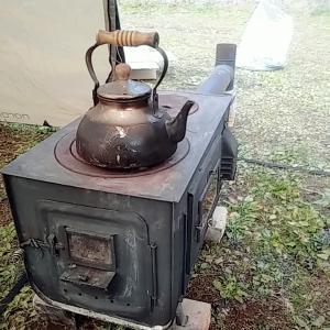冬キャンプ 薪ストーブ 自作 煙突 防炎🎄⛺🎄🚙