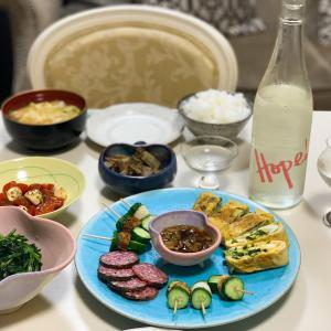"""おうちご飯♪Today's """"stay at home dinner"""" with SAKE."""